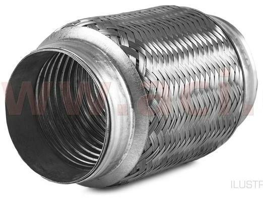 Obrázek produktu pružný člen výfuku PREMIUM, vnitř. průměr 60 mm / celk. délka 150 mm -
