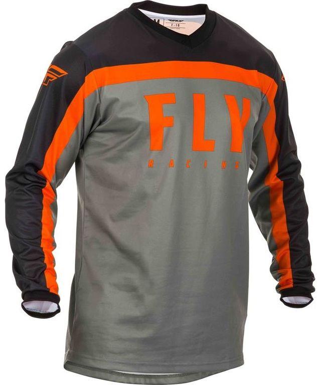 Obrázek produktu dres F-16 2020, FLY RACING dětský (šedá/černá/oranžová) 373-925Y