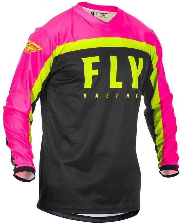 Obrázek produktu dres F-16 2020, FLY RACING dětský (růžová/černá/hi-vis) 373-926Y