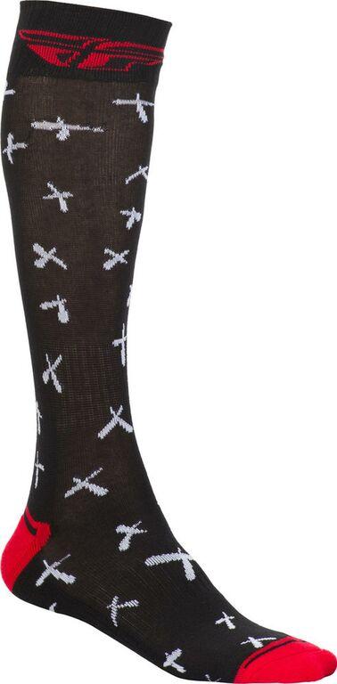 Obrázek produktu Ponožky dlouhé Knee Brace, FLY RACING (černá/bílá/červená) 350-0462