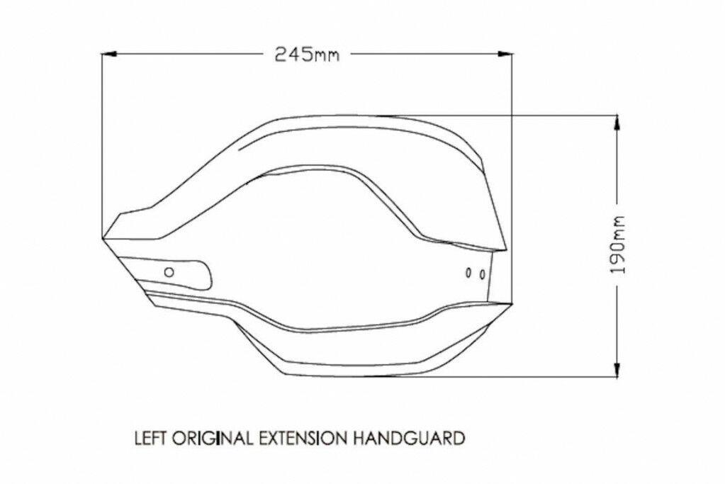 Obrázek produktu Chrániče páček PUIG EXTENSION černý 3763N