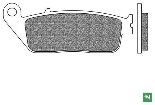 Obrázek produktu brzdové destičky, NEWFREN (směs SCOOTER ELITE SINTERED) 2 ks v balení