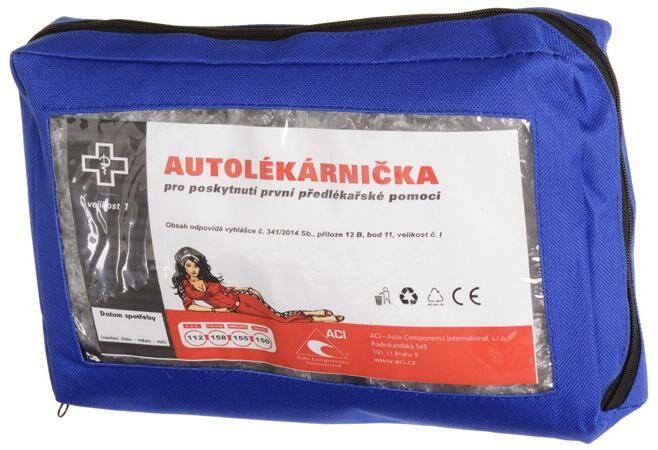 Obrázek produktu autolékárnička CZ - textilní (výbava dle vyhlášky č. 206/2018 Sb.) lékárnička