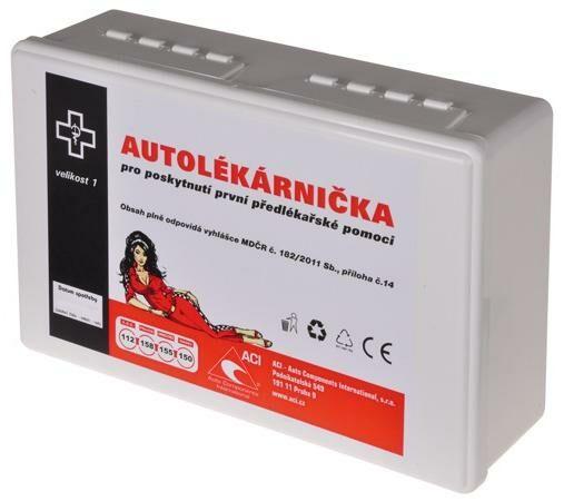 Obrázek produktu autolékárnička CZ - plastová (výbava dle vyhlášky č. 206/2018 Sb.) lékárnička