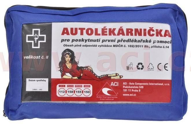 Obrázek produktu lékárnička pro vozidla do 80 osob - textilní (výbava dle vyhlášky č.341/2014 Sb. ve znění vyhl. č.206/2018 Sb). lékIInová