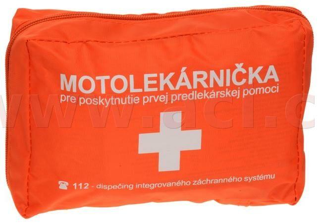 Obrázek produktu motolékárnička SK - textilní (výbava dle platné vyhlášky MZ SR 143/2009 z.z., oranžová) LÉKÁRNIČKA OR
