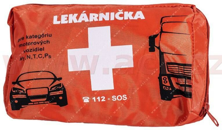 Obrázek produktu autolékárnička SK - textilní (výbava dle vyhlášky MZ SR č.143 / 2009) oranžová 8588002484889
