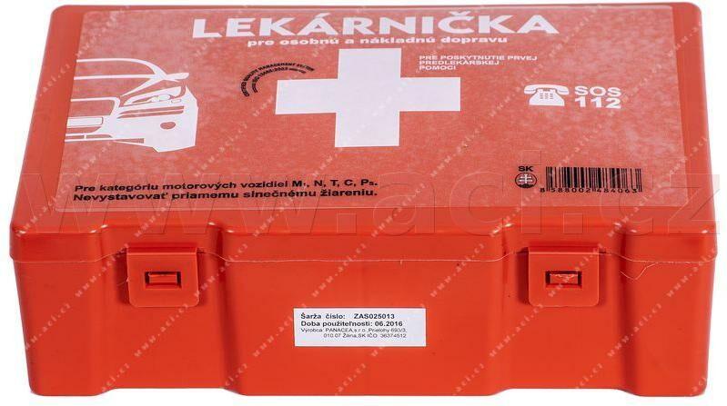 Obrázek produktu autolékárnička SK - plastová (výbava dle vyhlášky MZ SR č.143 / 2009) oranžová 8595051300121
