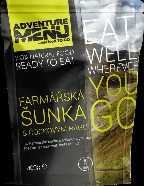 Obrázek produktu Adventure Menu Farmářská šunka s čočkovým ragú advm14