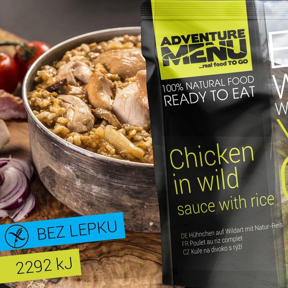 Obrázek produktu Adventure Menu Kuřecí na divoko s rýží advm08