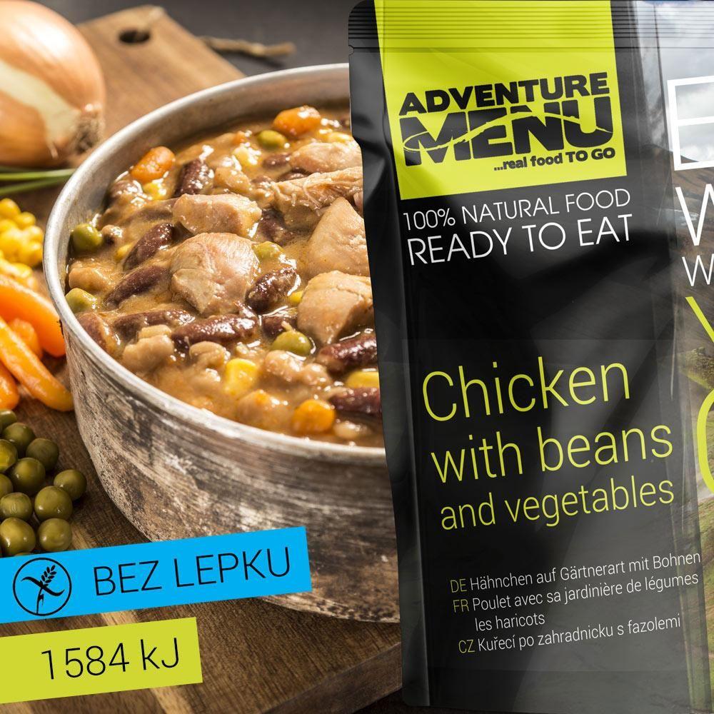 Obrázek produktu Adventure Menu Kuřecí po zahradnicku s fazolemi advm09