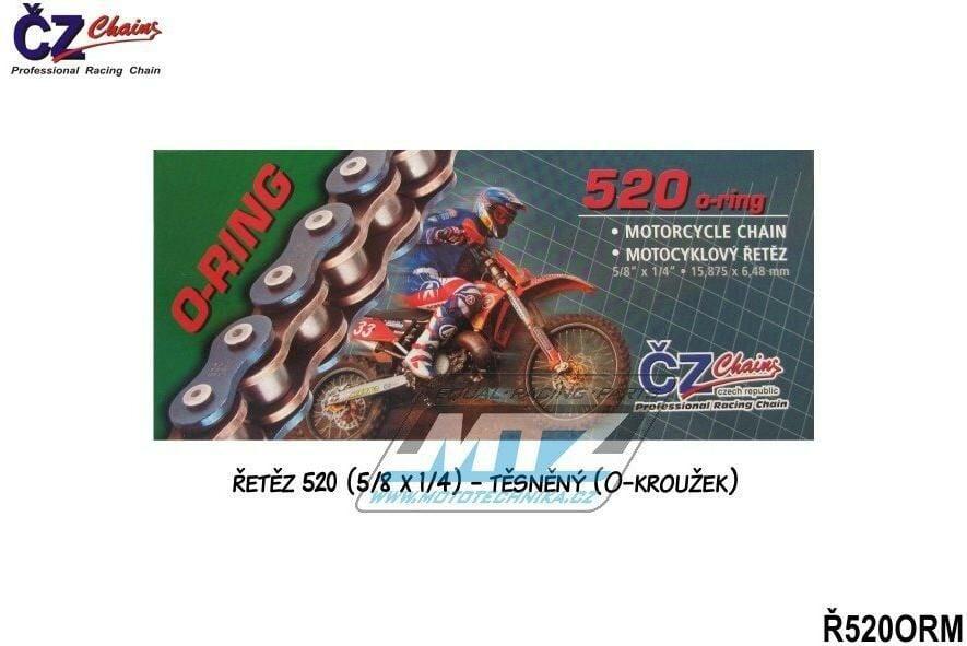 Obrázek produktu Řetěz ČZ 520 ORM (116čl) - těsněný/ o kroužkový (zlatý) (4257)