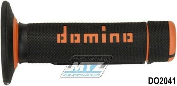 Obrázek produktu Rukojeti/Gripy Domino černo-oranžové (3106)