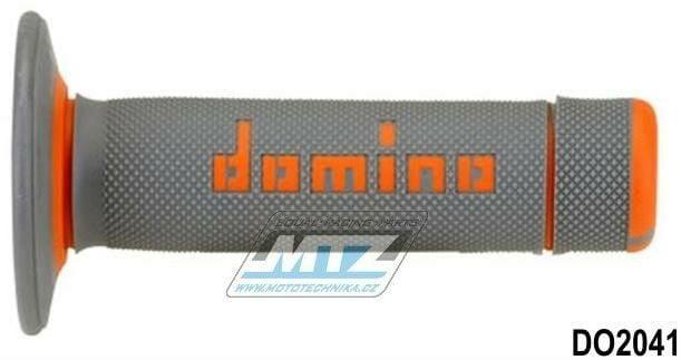 Obrázek produktu Rukojeti/Gripy Domino šedo-oranžové (3110)