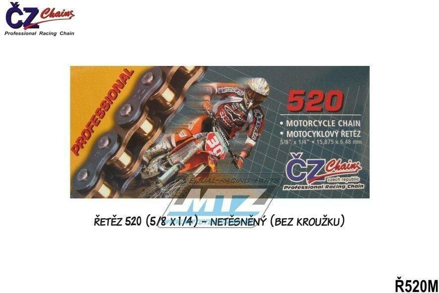 Obrázek produktu Řetěz ČZ 520 M (116čl) - netěsněný/ bezkroužkový (4244)