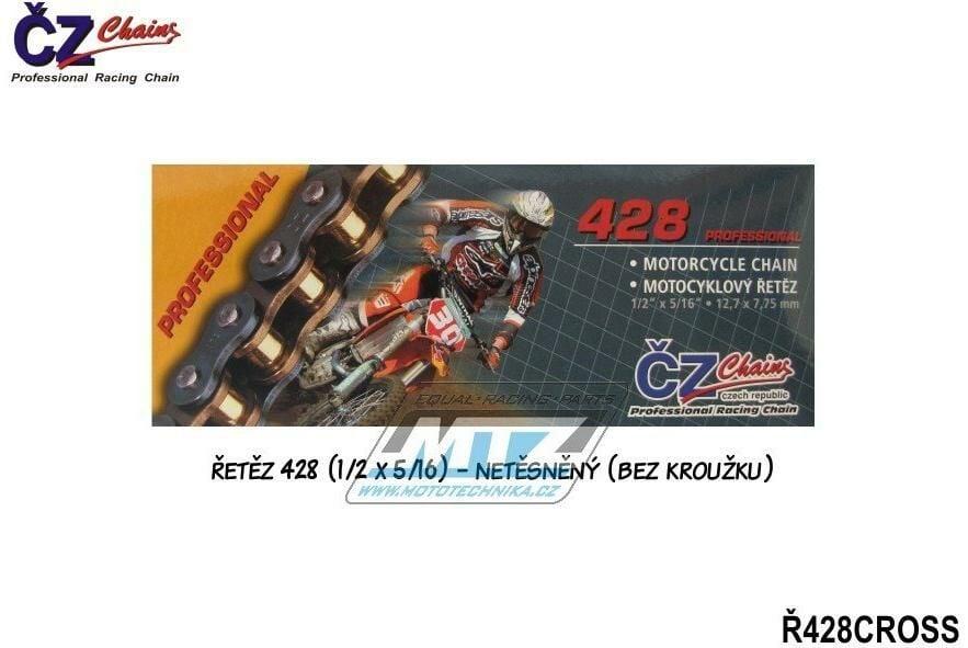 Obrázek produktu Řetěz ČZ 428 CROSS (136čl) - netěsněný/ bezkroužkový (4234)