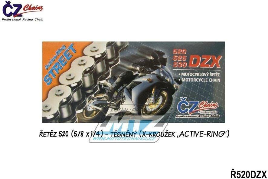 Obrázek produktu Řetěz ČZ 520 DZX (118čl) - těsněný/ x kroužkový (r520dzx)