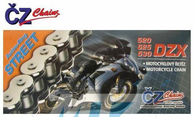 Obrázek produktu Řetěz ČZ 530 DZX (118čl) - těsněný/ x kroužkový (retez-cz-525dzx)