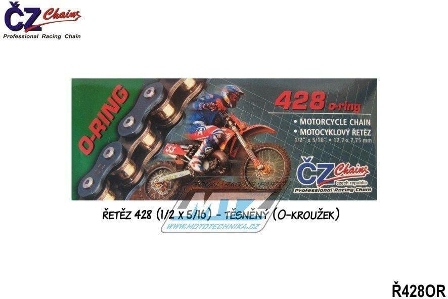 Obrázek produktu Řetěz ČZ 428 OR (136čl) - těsněný/ o kroužkový (4238)