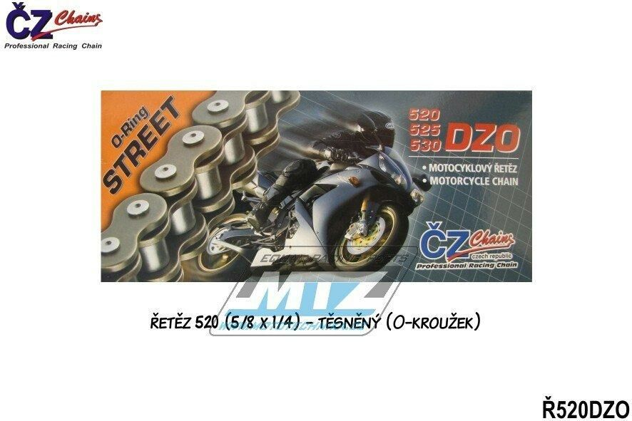 Obrázek produktu Řetěz ČZ 520 DZO (108čl) - těsněný/ o kroužkový (4271)
