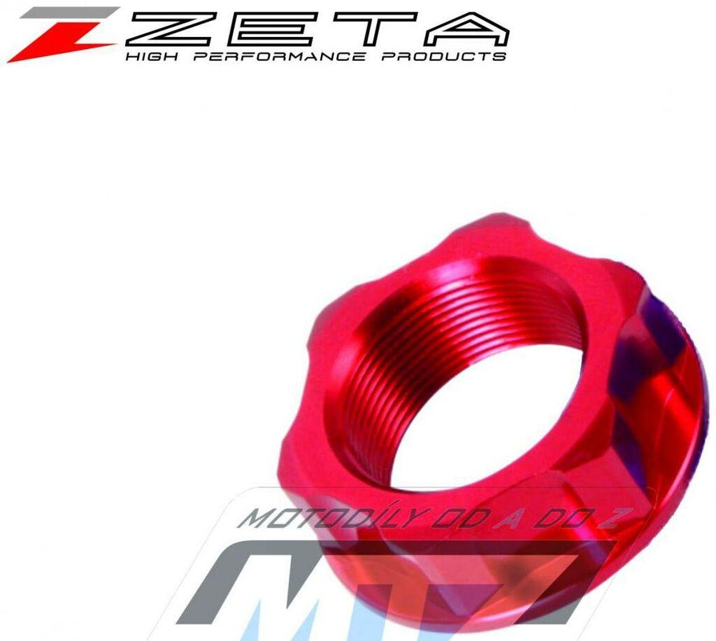 Obrázek produktu Matice krku řízení ZETA - červená - Honda XR50R/ 99-17 + CRF50F/ 99-17 + Kawasaki KX65/ 00-21 + KX85/ 01-21 + KX100/ 01-21 + KX125/ 88-91 + KX250/ 88-91 + KLX110/ 02-20 + KLX110L/ 02-20 + KLX125/ 10-1