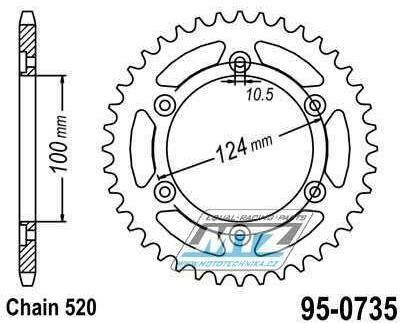 Obrázek produktu Rozeta Ocel 0735-40z MTZ