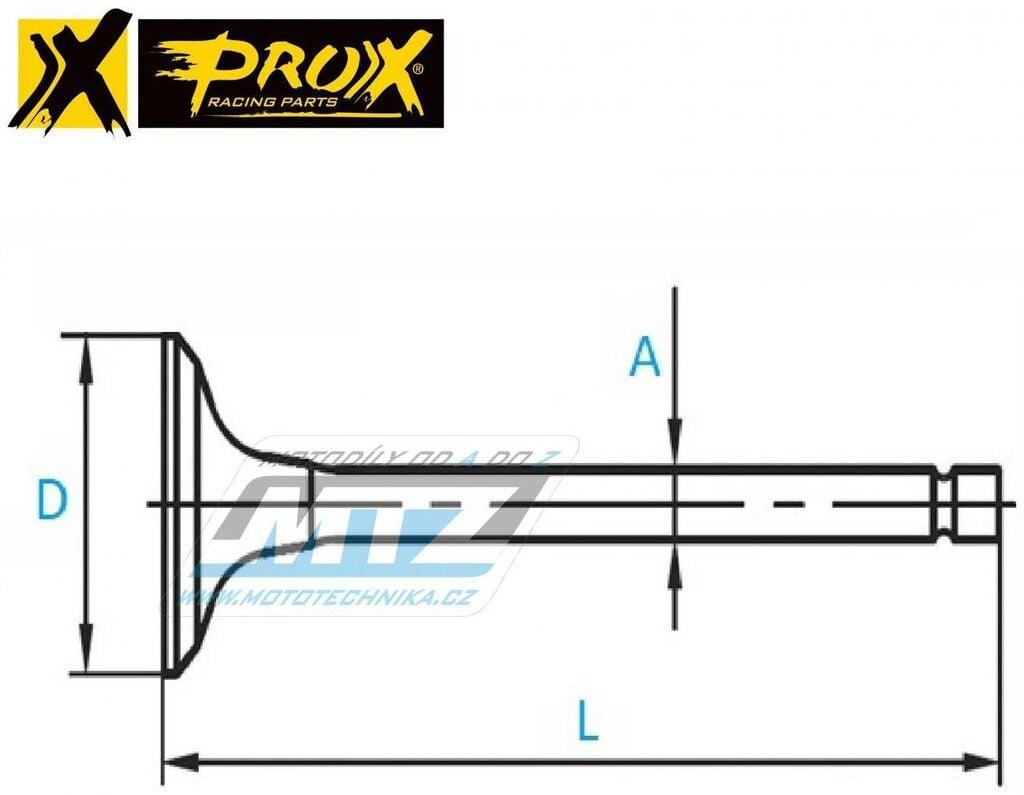 Obrázek produktu Ventil sací titanový KTM 400+450+500+530EXC / 08-13 + Husaberg FE390+450+501+570 / 09-14 (vykres-ventil)