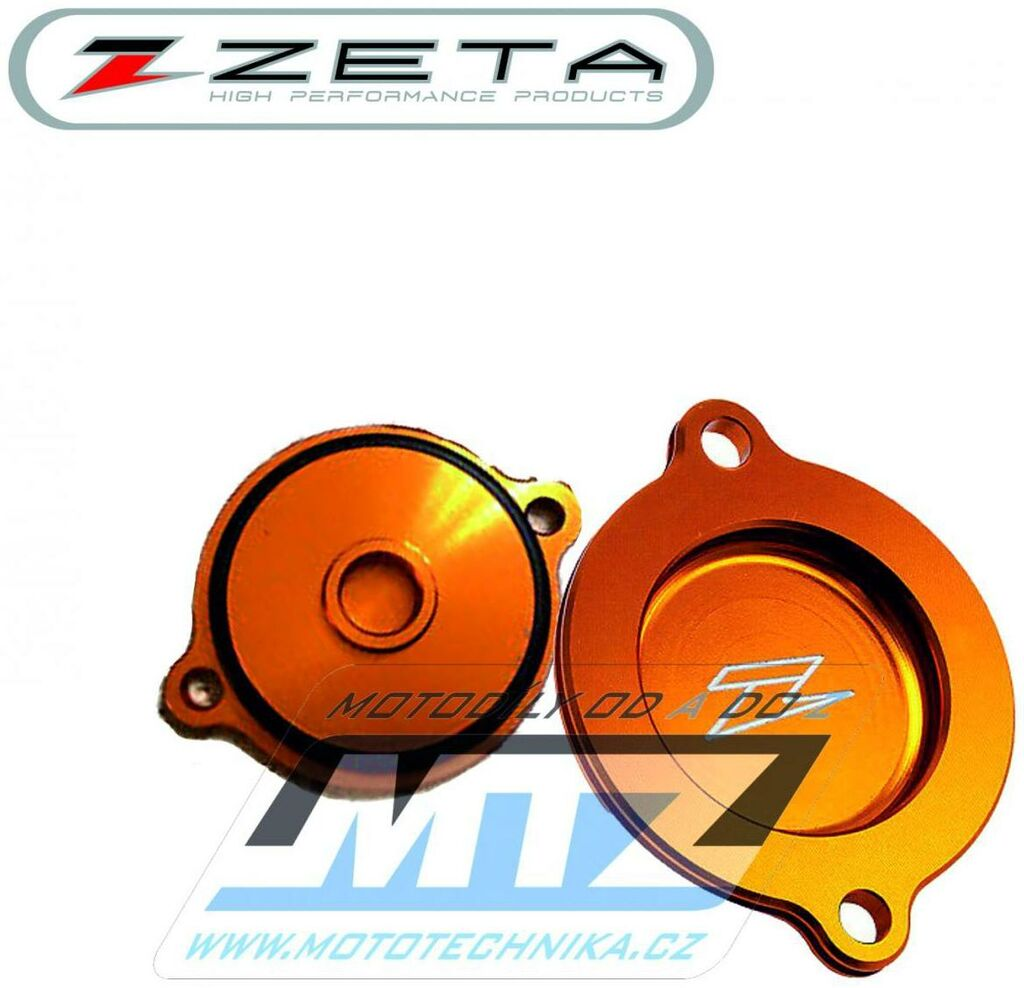 Obrázek produktu Víko olejového filtru ZETA - KTM 250SXF+450SXF+520SX+540SX + 250EXCF+400EXC+450EXC+520EXC+525EXC + 450SMR+525SMR + 950 Adventure + 990 Superduke+990 Supermoto + 450ATV+525ATV - oranž (viko-filtru-ze90