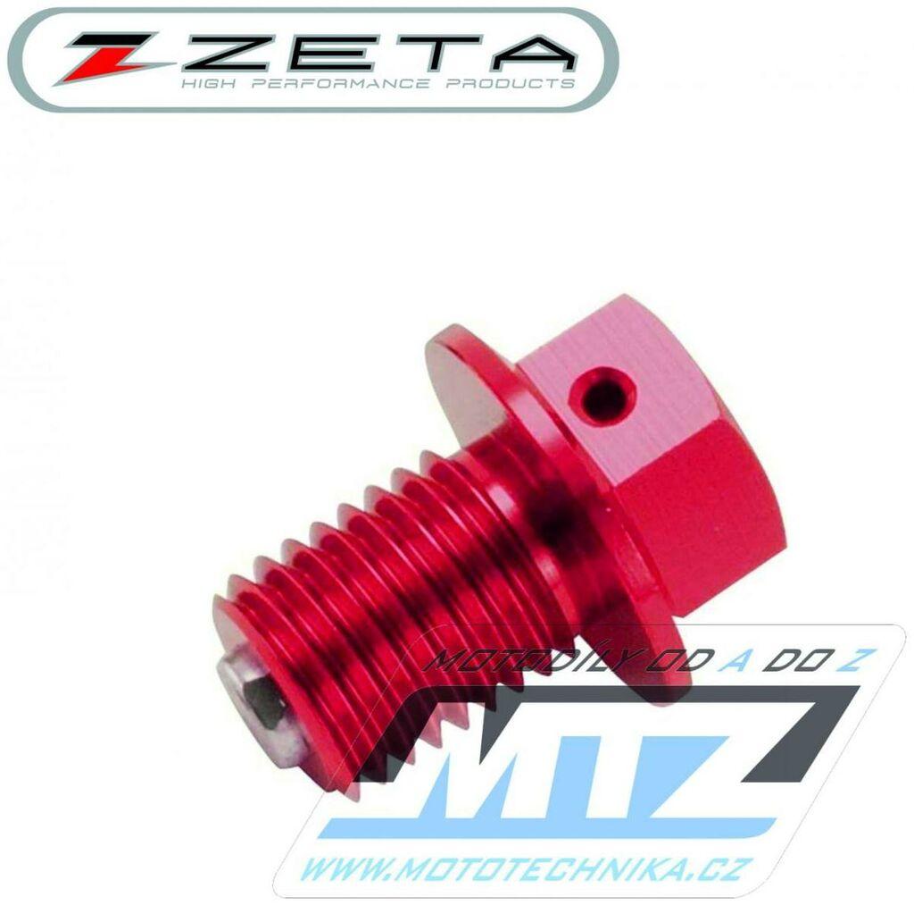 Obrázek produktu Magnetický výpustný šroub M10x15mm (závit 1,5) - červený (Kawasaki + Suzuki) (vypustny-sroub-ze58-1623)