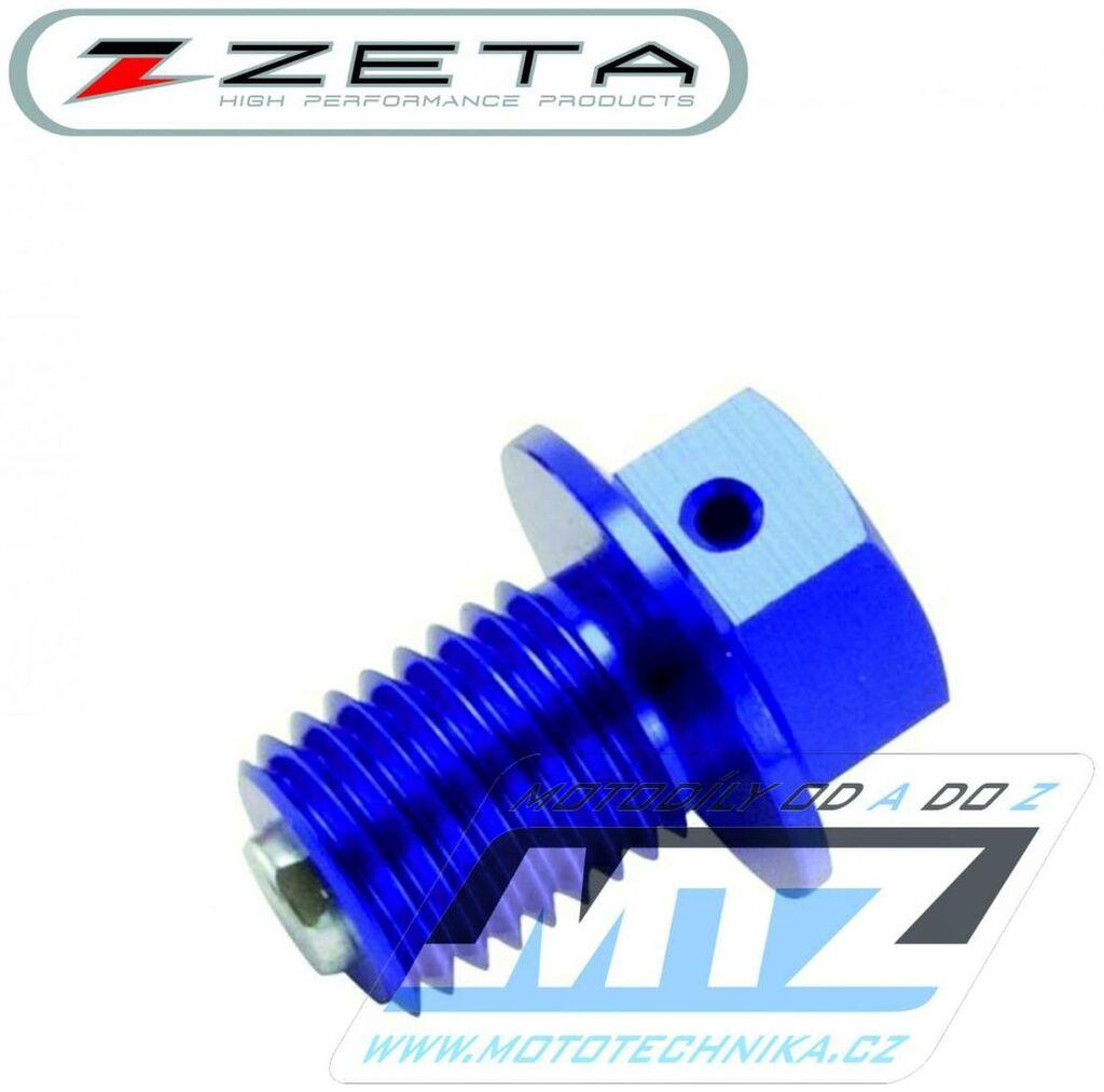 Obrázek produktu Magnetický výpustný šroub M10x15mm (závit 1,5) - modrý (Kawasaki + Suzuki) (vypustny-sroub-ze58-1622)
