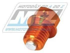 Obrázek produktu Magnetický výpouštěcí šroub M12x12mm (závit 1,5) - oranžový (KTM + Husqvarna + Gas-Gas) (581517-2)