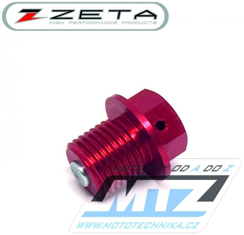 Obrázek produktu Magnetický výpustný šroub M14x10mm (závit 1,25) - červený (Suzuki) (vypustny-sroub-ze58-1613)