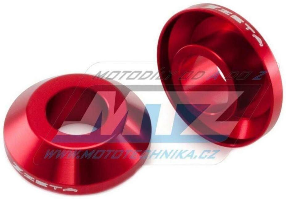 Obrázek produktu Kryty osy (rozpěrky) zadního kola ZETA Fast Spacer - červené - Honda CR125+CR250 / 05-07 + CRF250R+CRF450R / 05-21 + CRF250RX / 19-21 + CRF450RX / 17-20 + CRF250X / 06-17 + CRF450X / 05-21 (ze932102)