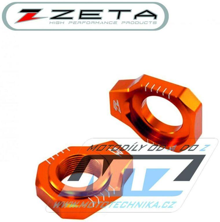 Obrázek produktu Dorazy osy zadního kola ZETA KTM 125SX-450SX + 125SXF-450SXF + 125XC-450XC + 125XCF-450XCF / 13-21 - oranžové (zeta-dorazy-935417)