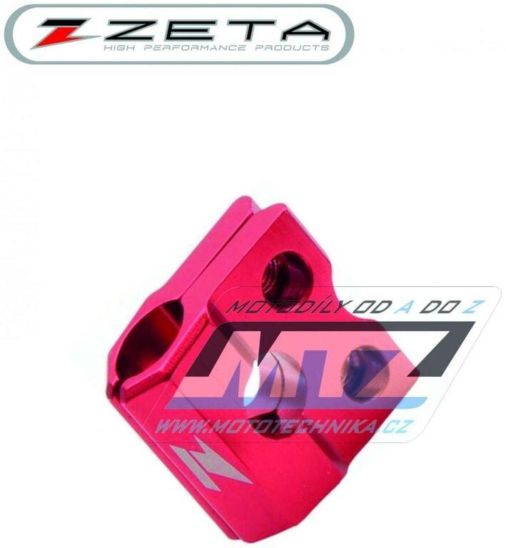 Obrázek produktu Držák přední brzdové hadice ZETA - červený (zeta-drzak-hadice-cerv)