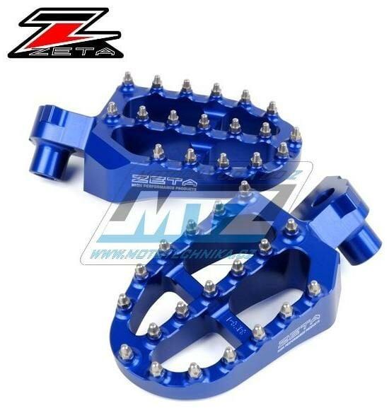 Stupačky ZETA Racing Alu - Yamaha YZ65/18-21 + YZ85/ 02-21 + YZ125+YZ250/ 98-19 + YZF250/ 01-21 + YZF450/ 03-21 + YZF250X/ 15-20 + YZF450X/ 16-21 + YZ125X+YZ250X/ 16-21 + WRF250/ 01-20 + WRF450/ 03-21