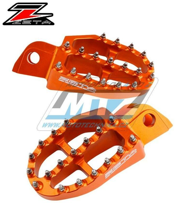 Obrázek produktu Stupačky ZETA Racing Alu - KTM SX+SXF+EXC+EXCF + KTM 50SX+65SX+85SX + 790Adventure+Enduro + 950+990+1050+1090+1190+1290 Adventure+SMC+SuperEn + Husqvarna TC50+TC65+TC85 + Beta RR 2T+4T / 10-20 + Gas-G