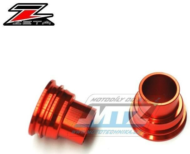 Obrázek produktu Rozpěrky na osu zadního kola ZETA -Husaberg FE+FX+TE + Husqvarna FC+FE+TC+TE + KTM SX+SXF+EXC+EXCF+EXCR+XCF - oranžové (ze933864)