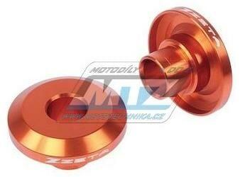 Obrázek produktu Kryty osy (rozpěrky) zadního kola ZETA Fast Spacer - oranžové - KTM 125+144+150+250SX / 94-12 + 250SXF+350SXF+450SXF / 03-12 + 125+200+250+300EXC + 250+350+400+450+500+525+525+530EXCF / 94-18 (ze93251