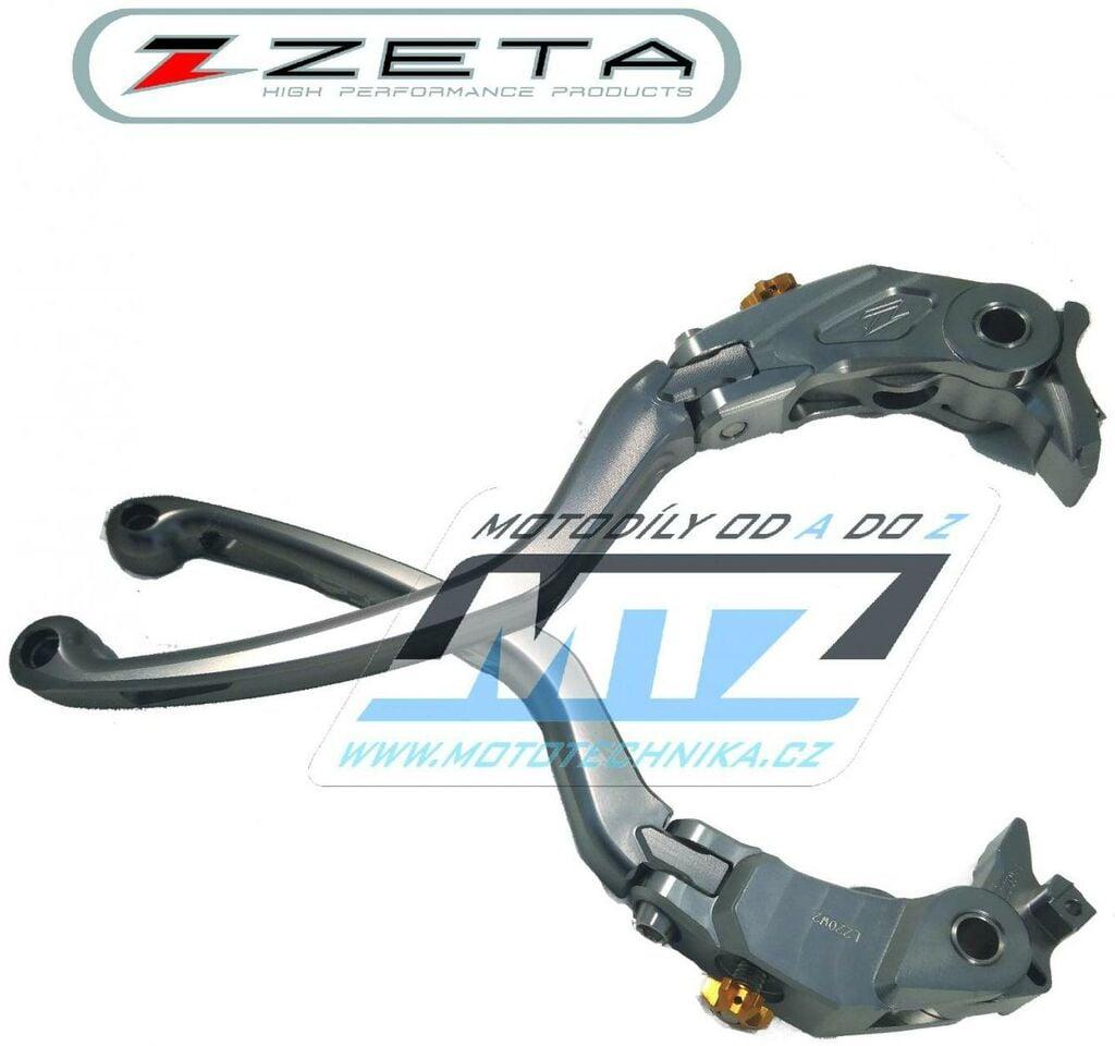 Obrázek produktu Páčka Spojky výklopná ZETA-PILOT (závodní provedení titan) - Kawasaki ZX14R / 06-19 + ZX14R SE / 16-20 + 1400GTR+CONCOURS 14 / 08-19 (packa-spojky-vyklopna-zs61-2220)