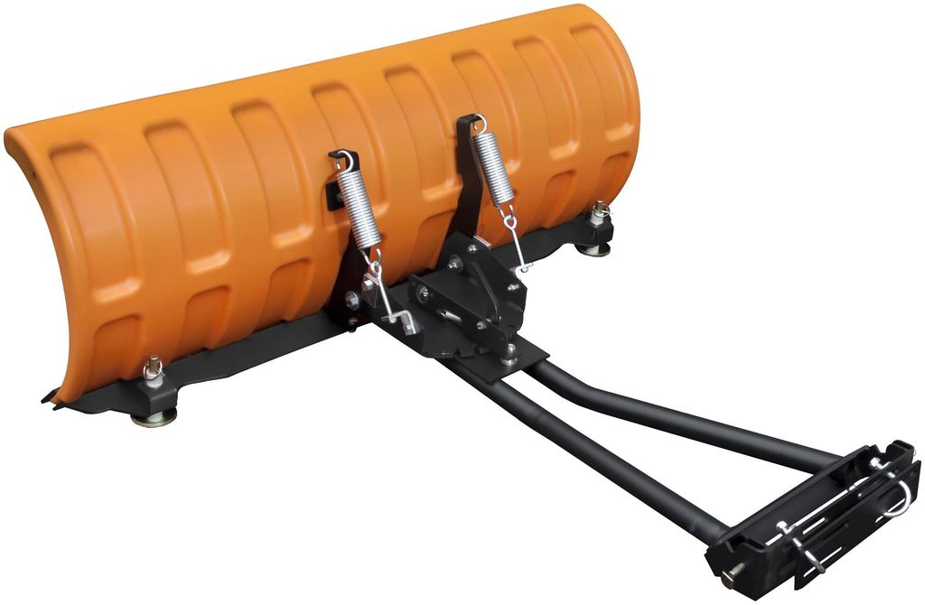 Obrázek produktu Plastová radlice na sníh pro čtyřkolky a UTV - SHARK - 132cm, oranžová včetně montážní sady