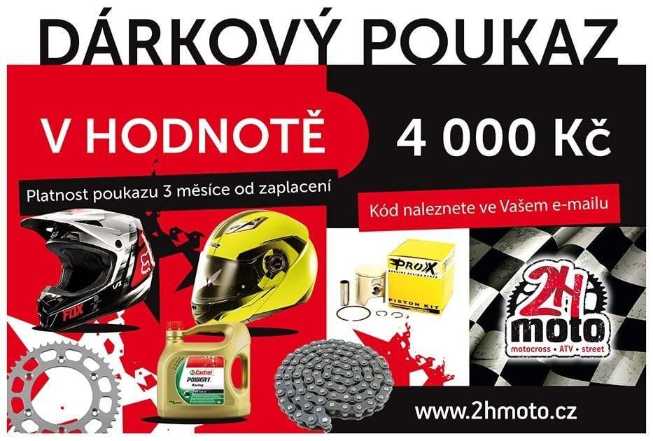 Obrázek produktu Dárkový poukaz / certifikát na zboží v hodnotě 4000 Kč na 2HMOTO ID-124209
