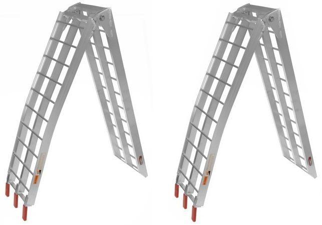 Obrázek produktu QTECH Hliníkové nájezdy na čtyřkolku / ATV - MOTO skládací (sada 2 kusů + upínací pásy 2ks) M002-63