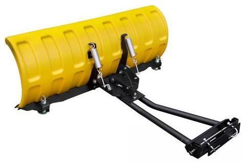 Obrázek produktu Plastová radlice na sníh pro čtyřkolky a UTV - SHARK - 152cm, žlutá včetně montážní sady