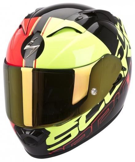 Obrázek produktu Moto přilba SCORPION EXO-1200 AIR QUARTERBACK černo/červeno/žlutá vel: XS SKLADVÝPRODEJ