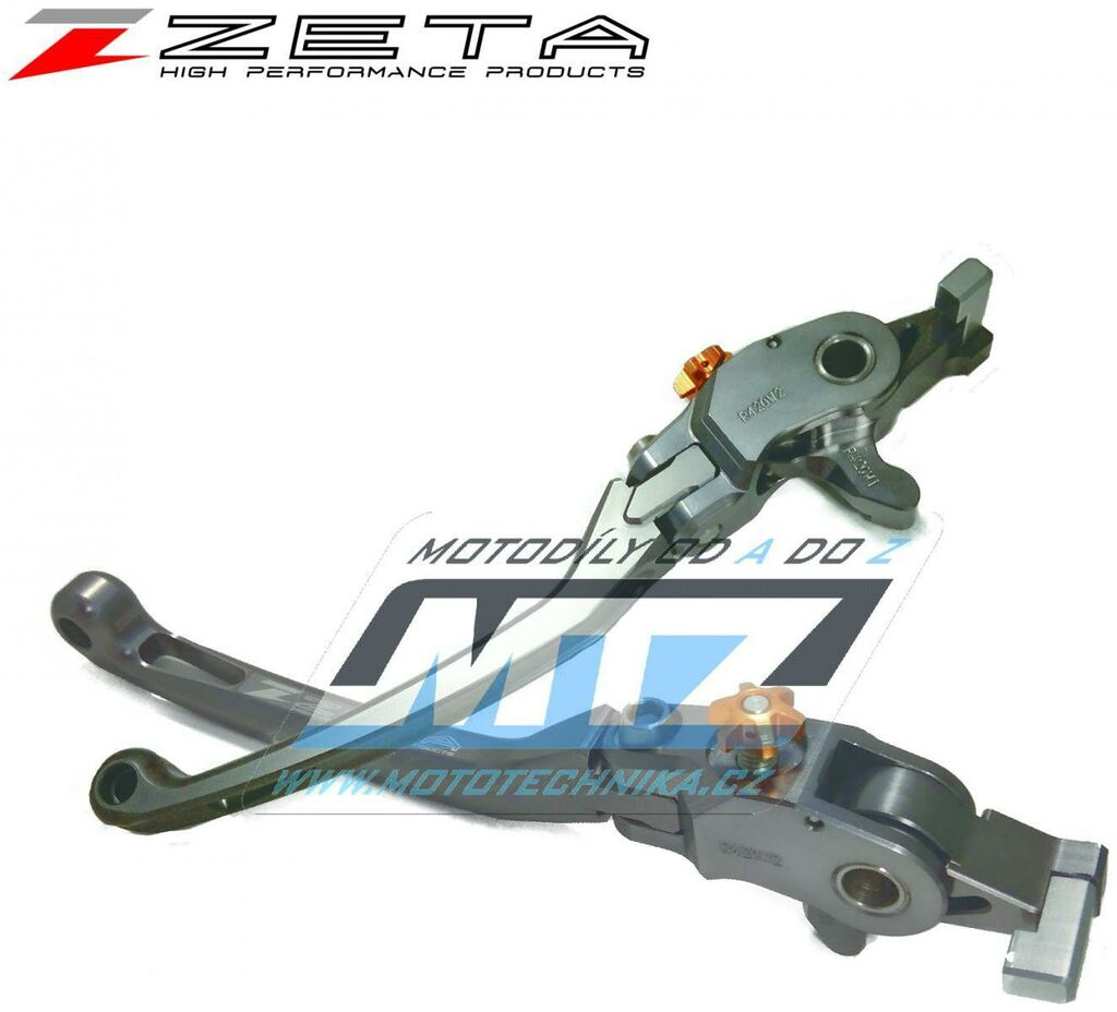 Obrázek produktu Páčka brzdy výklopná ZETA-PILOT (závodní provedení titan) - Honda CB1300SF/SB/ST / 03-19 + CB1000SF / 92-97 + CB400SF/SB ABS / 14-20 + CB1100/EX/RS / 10-20 + CBR900RR / 98-99 + CBR600F / 99-06 + CB750