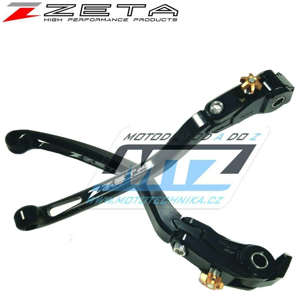 Obrázek produktu Páčka brzdy výklopná ZETA-PILOT (závodní provedení černá) - Ducati PANIGALE V4+PANIGALE V4R / 18-20 + PANIGALE V2 / 20 + 1198+1098+1098S+1098R / 08-11 + Triumph DAYTONA 675 / 13-15 + SPEED TRIPLE R /