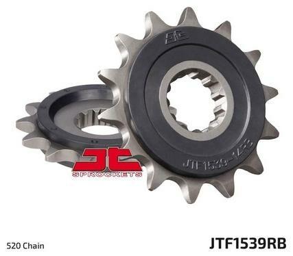 Obrázek produktu řetězové kolečko s tlumící gumovou vrstvou pro sekundární řetězy typu 520, JT (18 zubů)