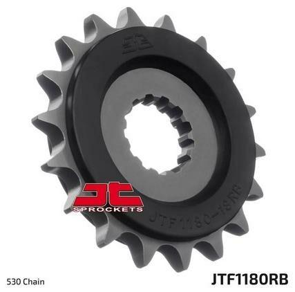 Obrázek produktu řetězové kolečko s tlumící gumovou vrstvou pro sekundární řetězy typu 530, JT (19 zubů)