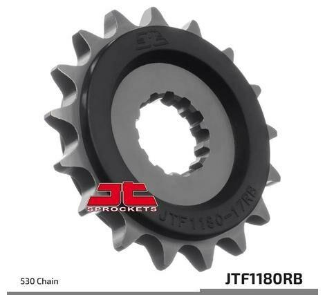 Obrázek produktu řetězové kolečko s tlumící gumovou vrstvou pro sekundární řetězy typu 530, JT (18 zubů)